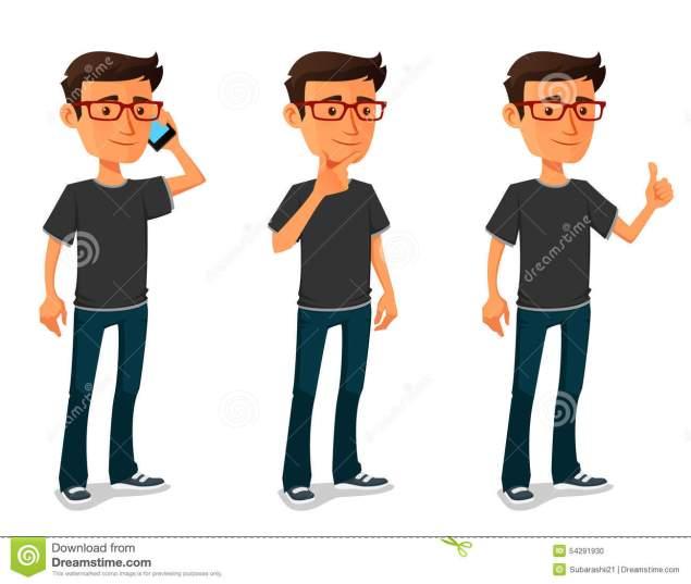 cartoon-guy-various-poses-funny-54291930